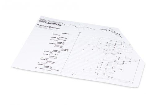"""10 Noten zum Selbst-Zusammenstellen für Akkordzither 6 / 25 (Typ """"Symbole"""")"""