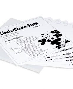Kinderliederbuch Band 1 für Veeh-Harfe Standard, Zauberharfe, Tischharfe, 25 Saiten (einstimmig)