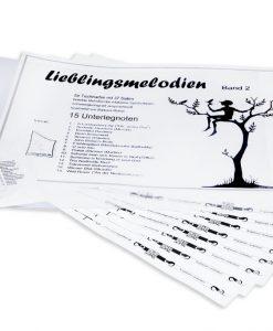 Lieblingsmelodien Band 2, anspruchsvoll, für Tischharfe mit 37 Saiten (Veeh-Harfe Solo)