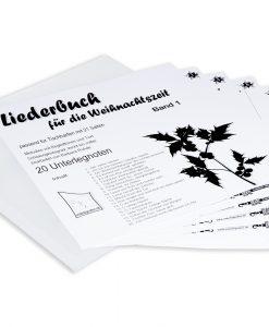 Weihnachtsliederbuch Band 1 für Tischharfe mit 25 Saiten