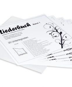 Liederbuch Band 1 für Veeh-Harfe, Zauberharfe, Tischharfe, 25 Saiten