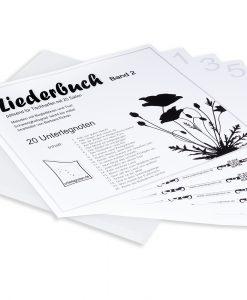 Liederbuch Band 2 für Tischharfe mit 25 Saiten