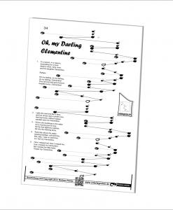 Unterlegnoten Veeh-Harfe, Tischharfe, 18 Saiten