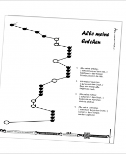 Unterlegnoten für Veeh-Harfe Comfort - extra große Notenschrift