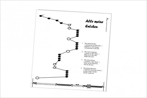 10 Noten zum Selbst-Zusammenstellen für Veeh-Harfe Comfort - extra große Notenschrift