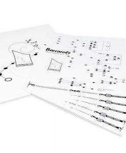 10 Noten zum Selbst-Zusammenstellen für Tischharfe mit 25 Saiten (EBAY)