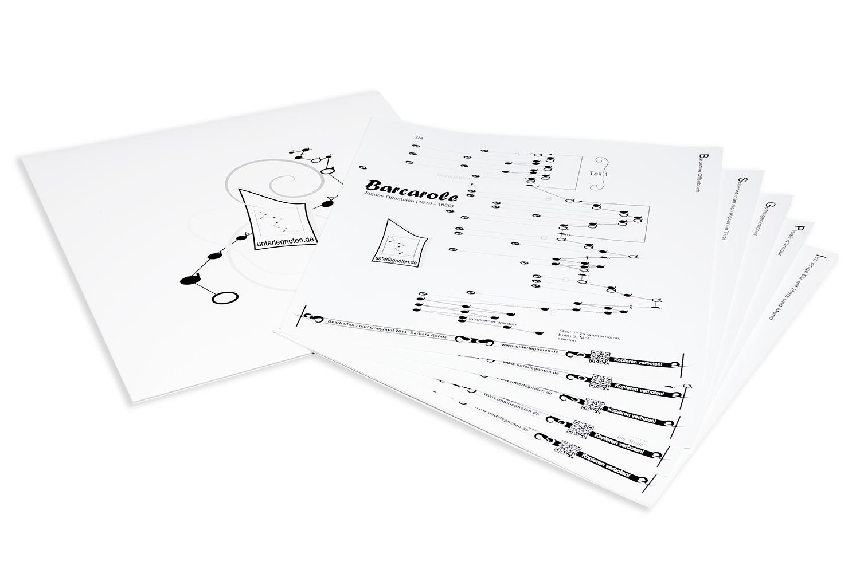 10 noten zum selbst zusammenstellen f r tischharfe mit 25 saiten. Black Bedroom Furniture Sets. Home Design Ideas