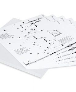 15 Noten zum Selbst-Zusammenstellen für Tischharfe mit 25 Saiten, mit Mappe