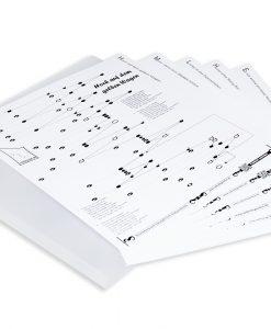 15 Noten zum Selbst-Zusammenstellen für Tischharfe mit 21 Saiten, mit Mappe