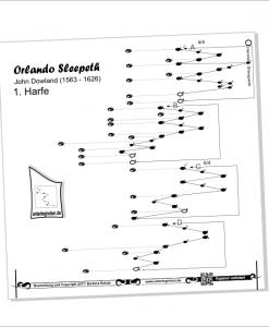 """Unterlegnoten für 2 Veeh-Harfen """"Standard"""", Zauberharfen und andere Tischharfen 25 Saiten"""