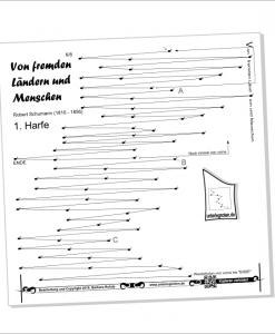 "Unterlegnoten für Veeh-Harfe ""Standard"", Zauberharfe, Tischharfe, Bassharfe, 25 Saiten"