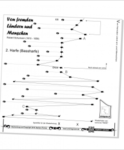 """Unterlegnote für 2 Harfen """"Von fremden Ländern""""-2"""