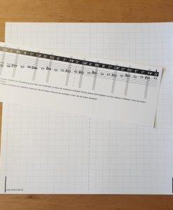 Notenschablone - Unterlegnoten selbst schreiben