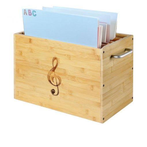 Notenbox für Unterlegnoten mit Registerkarten