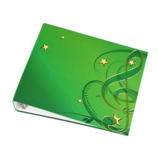 Ringbuchordner grün für Unterlegnoten